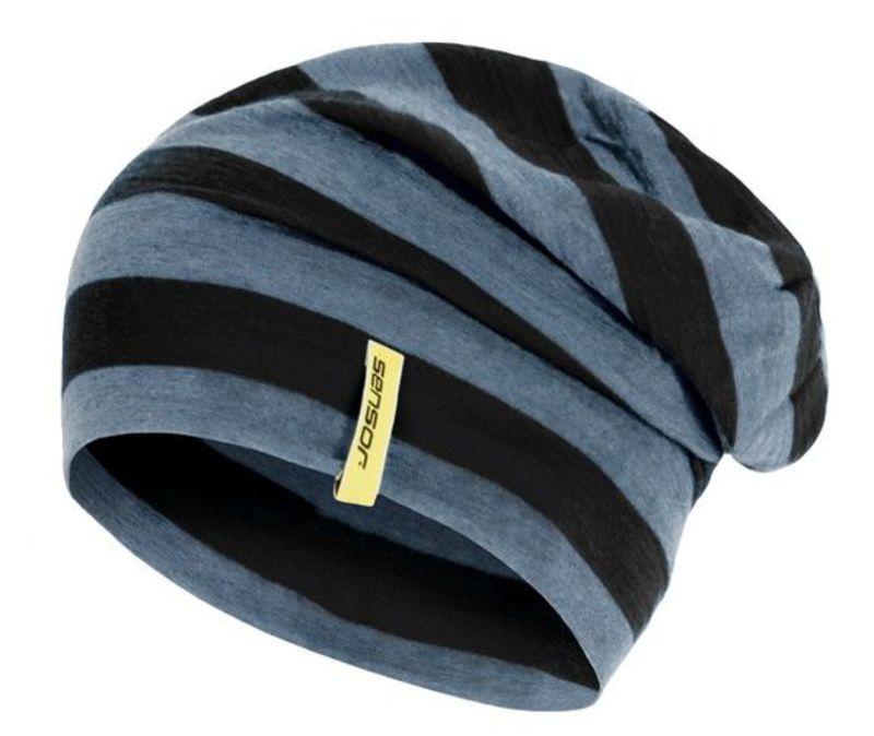 Čiapka Sensor Merino Wool čierna pruhy 16200198 L