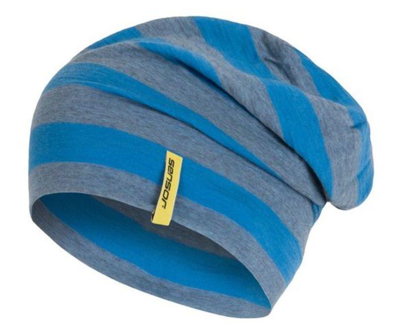 Čiapka Sensor Merino Wool modrá pruhy 16200197 M