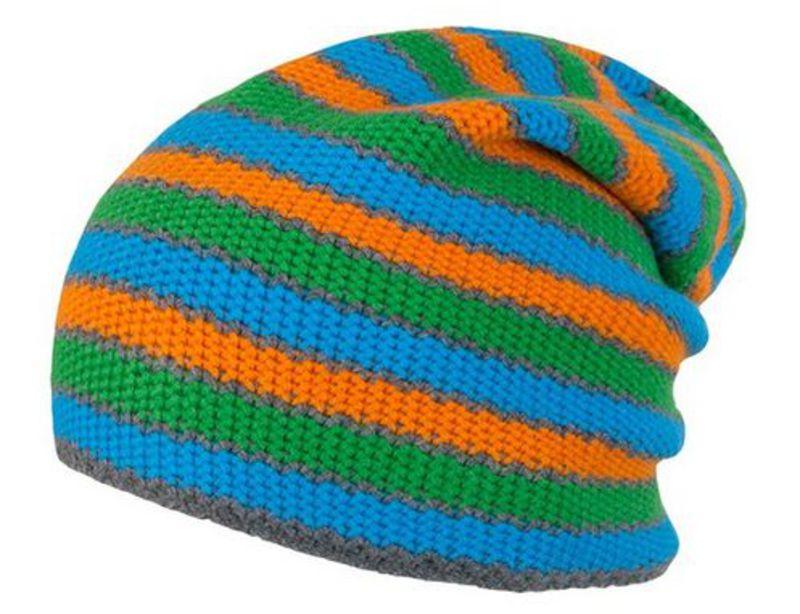 Čiapka Sensor Stripes modrá / zelená / oranžová 16200193