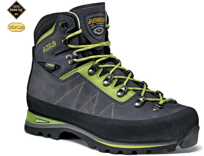 e74d34089 Topánky Asolo Lagazuoi GV MM navy blue / green lime/A673 - gamisport.sk