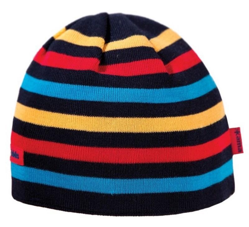 Detská pletená čiapka Kama B70 108 tmavo modrá