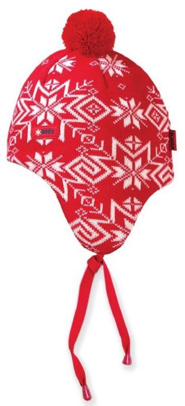 Detská pletená čiapka Kama BW18 - Windstopper 104 červená S