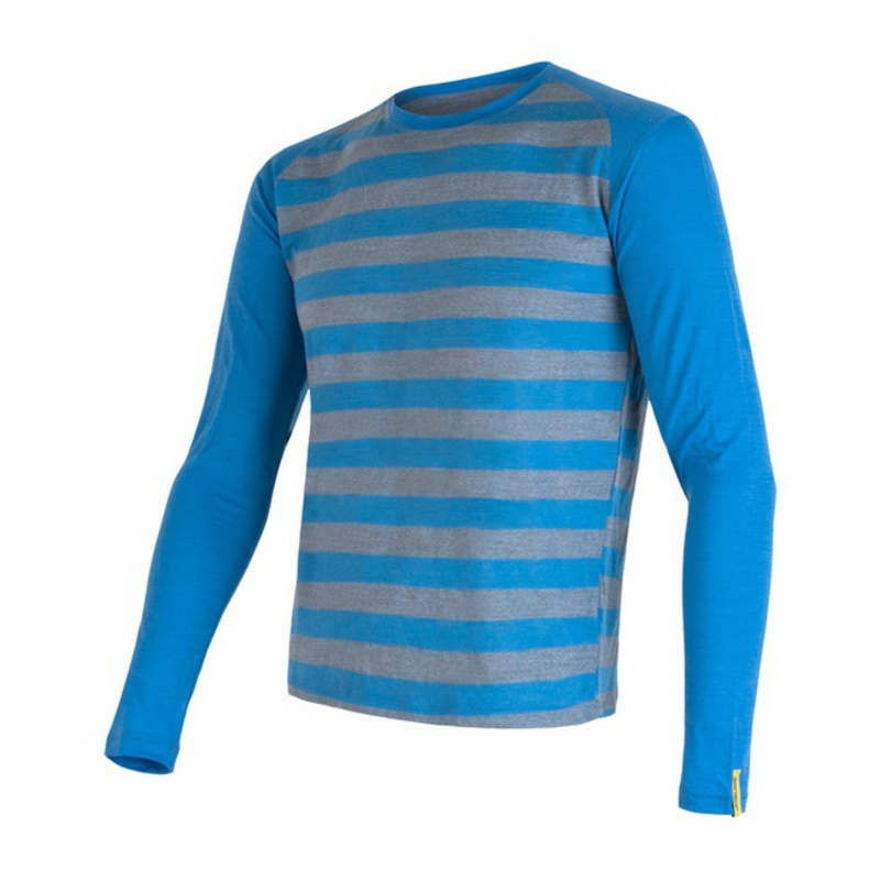 Pánske triko Sensor Merino Wool Active modrá pruhy 16200091 L