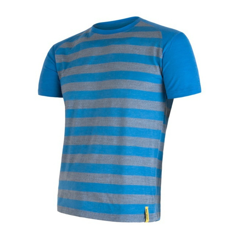 Pánske triko Sensor Merino Wool Active modrá pruhy 16200088 L