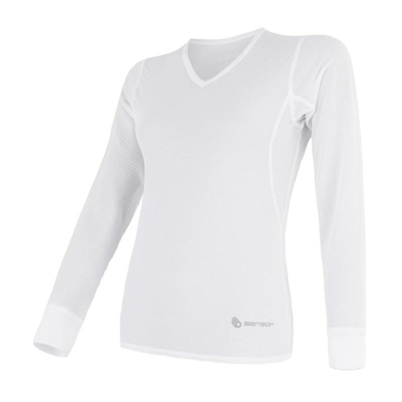 Dámske triko Sensor Coolmax Fresh Air V-neck biele 17100024