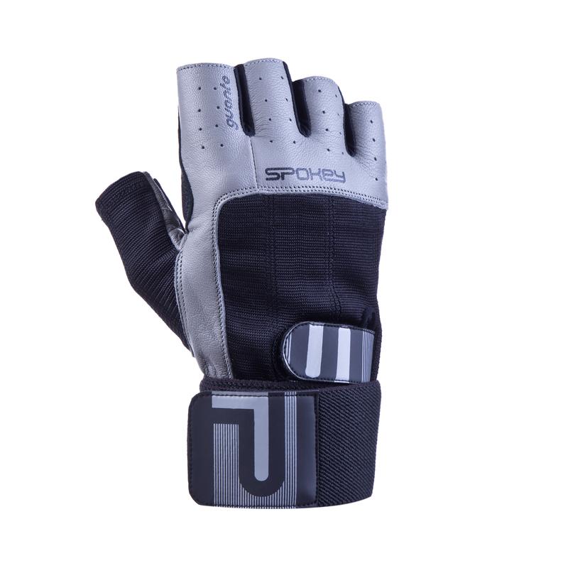 Fitness rukavice Spokey GUANTO II čierno-šedé