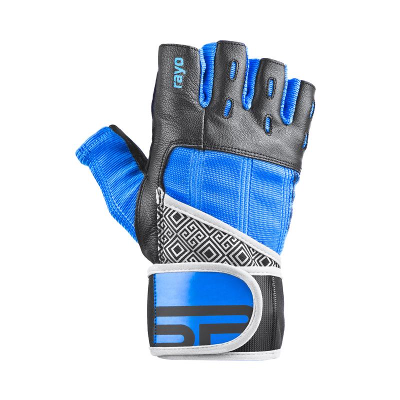 Fitness rukavice Spokey RAYO III čierno-modré