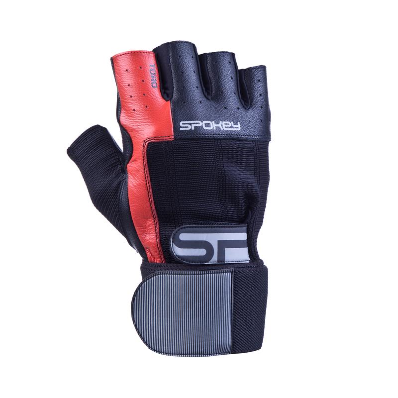 Fitness rukavice Spokey TORO II čierno-červené