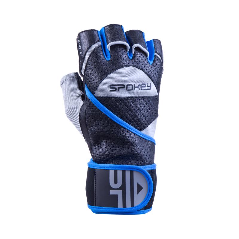 Fitness rukavice Spokey GANTLET II čierno-modré