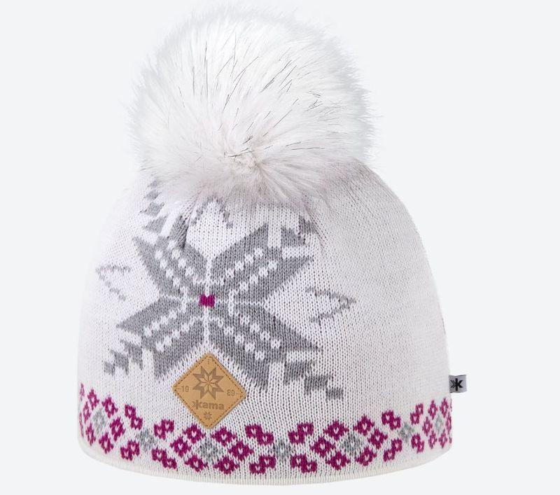 Dámska pletená Merino čiapka Kama A111 101