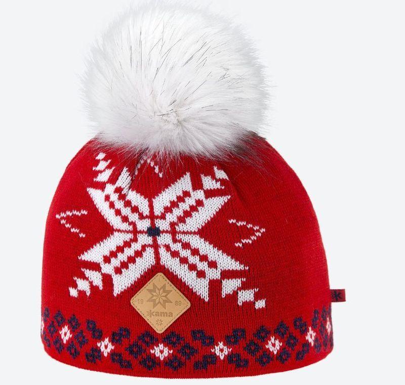 Dámska pletená Merino čiapka Kama A111 104