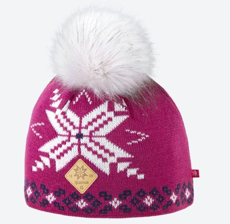 Dámska pletená Merino čiapka Kama A111 114