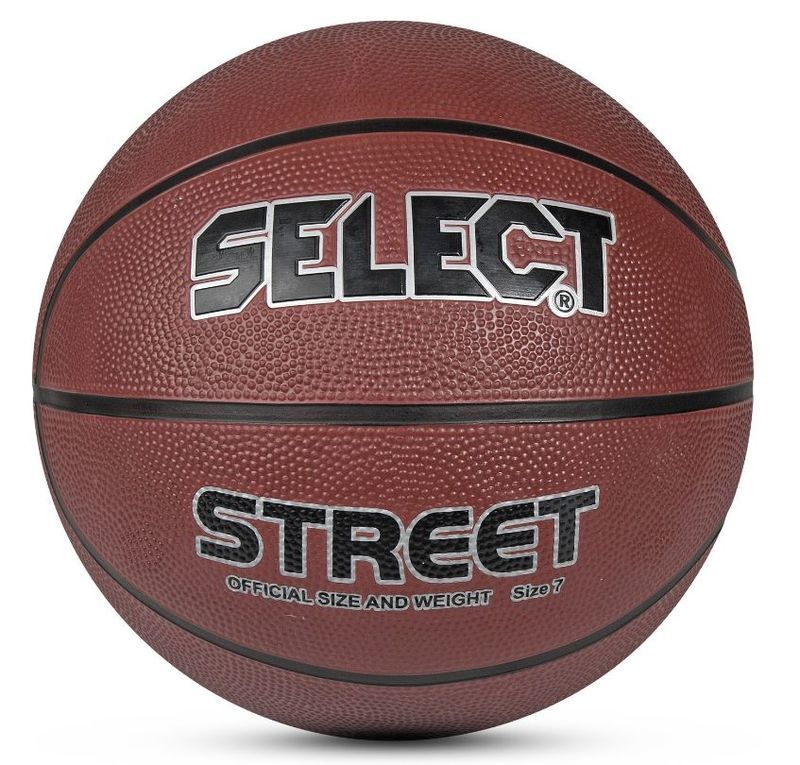 Basketbalový lopta Select Basketball Street hnedá