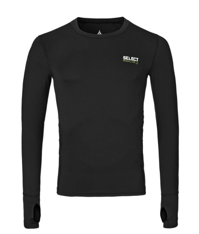 Kompresný triko Select Compression T-shirt L/S 6902 čierna XL