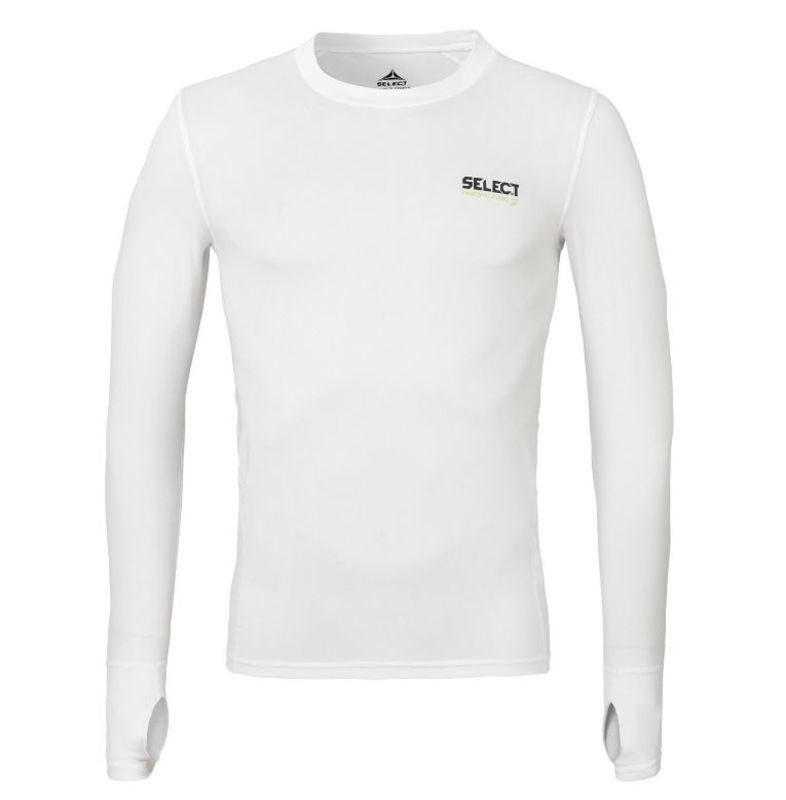 Kompresný triko Select Compression T-shirt L/S 6902 biela XL