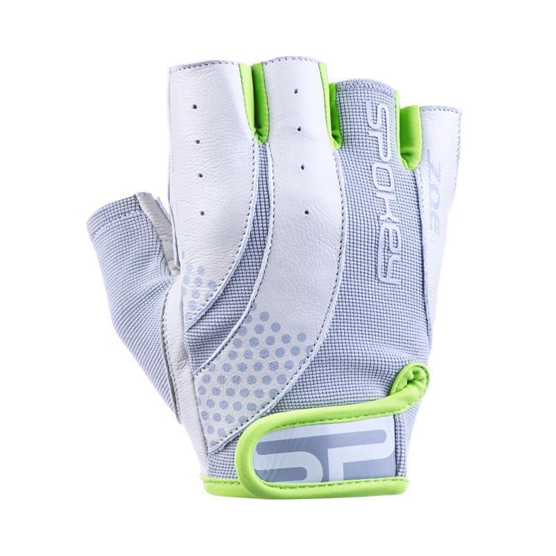 Dámske fitness rukavice Spokey ZOE II bielo-limetkovej