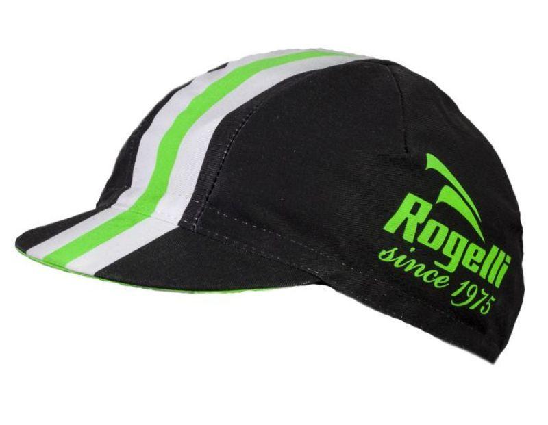 Športové šiltovka Rogelli RETRO, čierno-zelená 009.954.