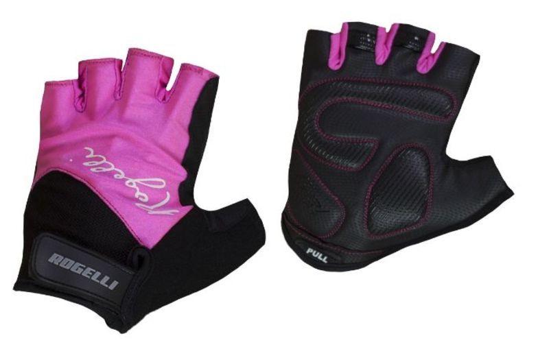 Dámske rukavice na kolo Rogelli DOLCE, ružové 010.613. M