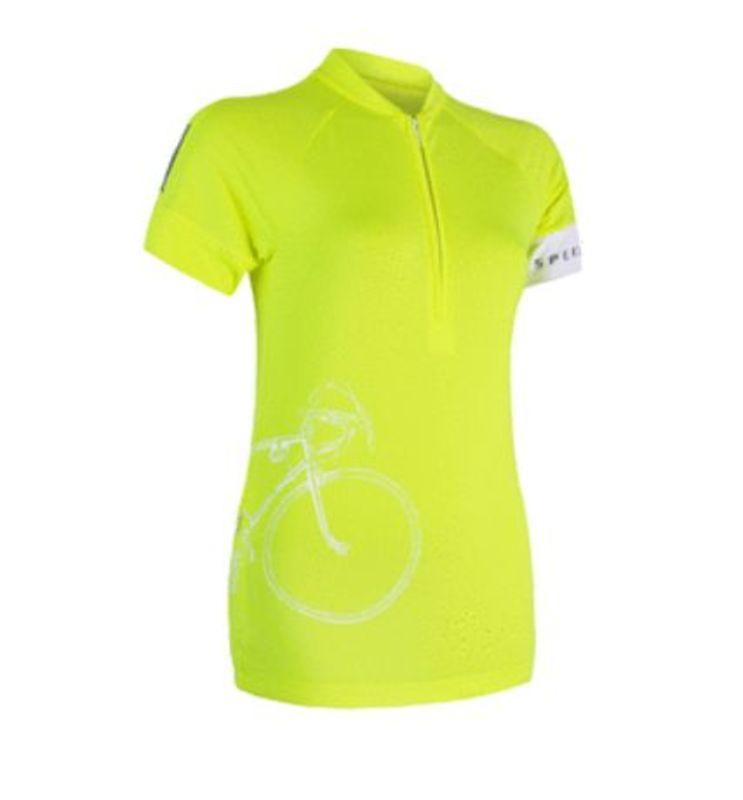 Dámsky dres Sensor Cyklo Tour kr.rukáv reflex žltá