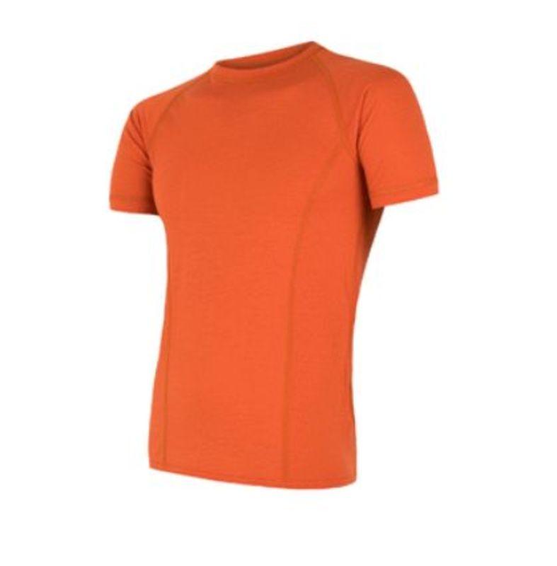 Pánske triko Sensor MERINO AIR PT kr.rukáv tm.oranžová L