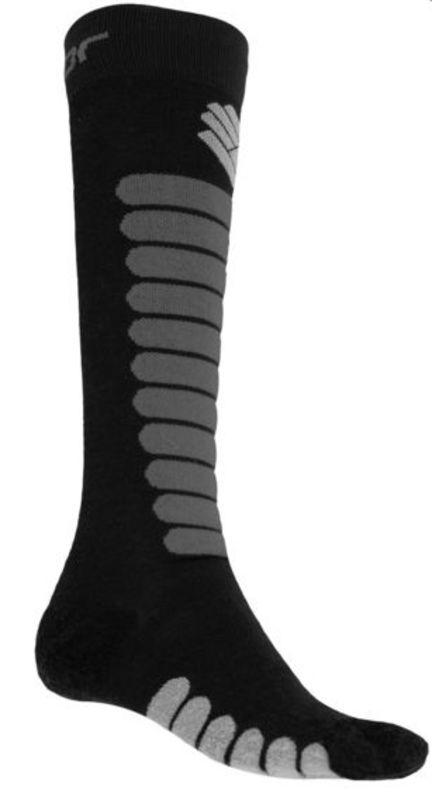 SENSOR ponožky Zero Merino čierna / šedá 17200093 3/5 UK