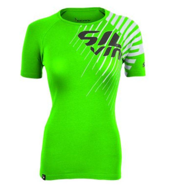 Dámske triko Silvini PROMO WT518 green S
