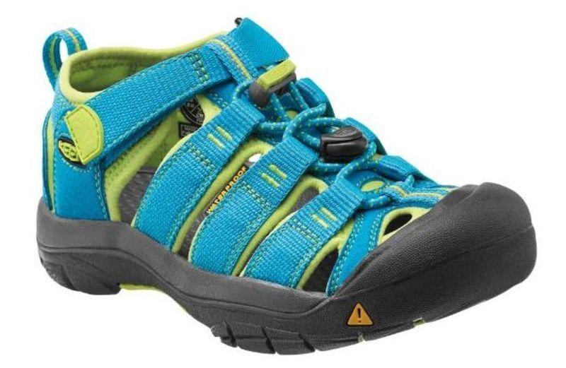 Sandále Keen Newport H2 Jr, hawaiian blue / green glow 3 US