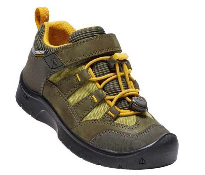 Detské topánky Keen Hikeport WP K, dark olive / citrus 12 US