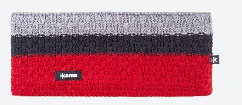 Pletená Merino čelenka Kama C39 104 červená