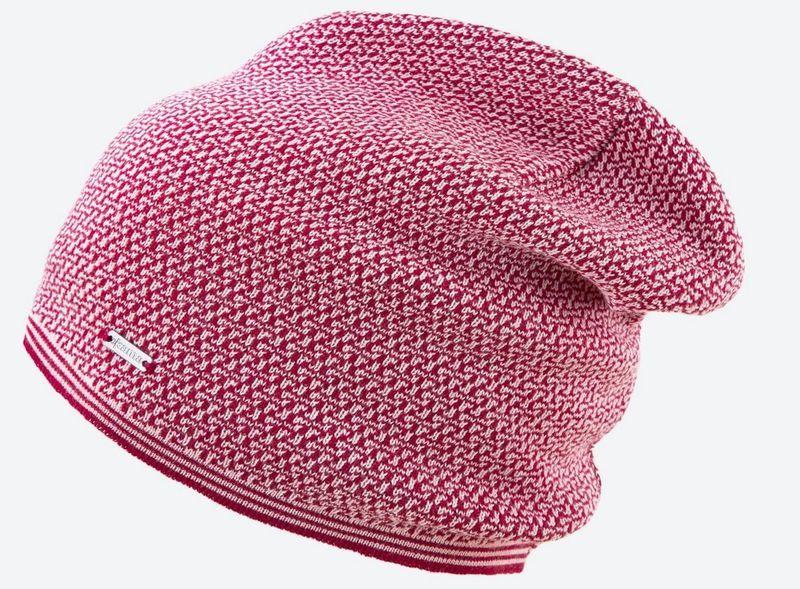 Pletená Merino čiapka Kama A125 104 červená