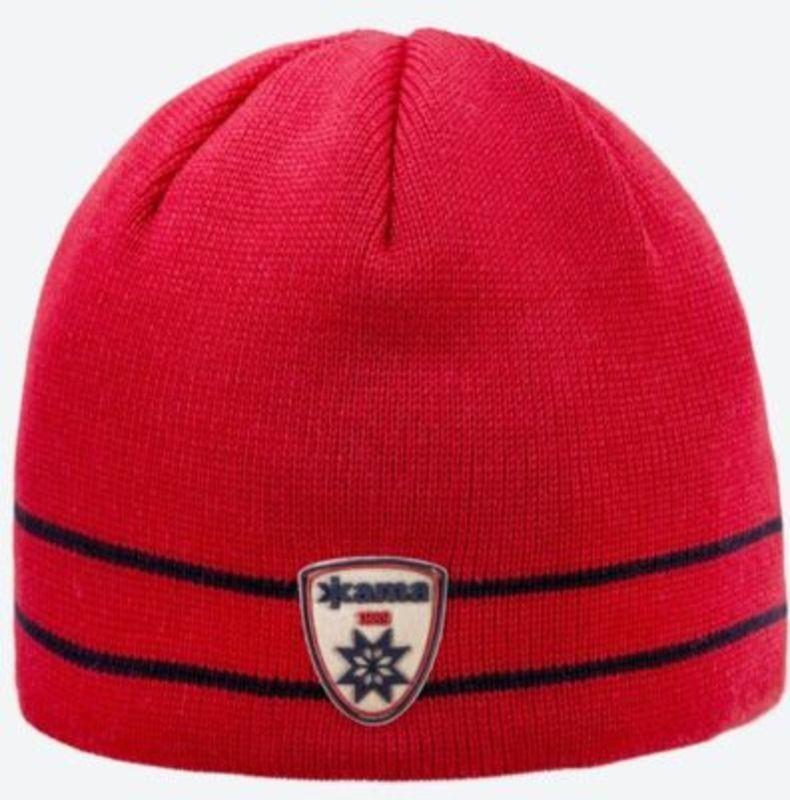 Pletená Merino čiapka Kama A133 104 červená