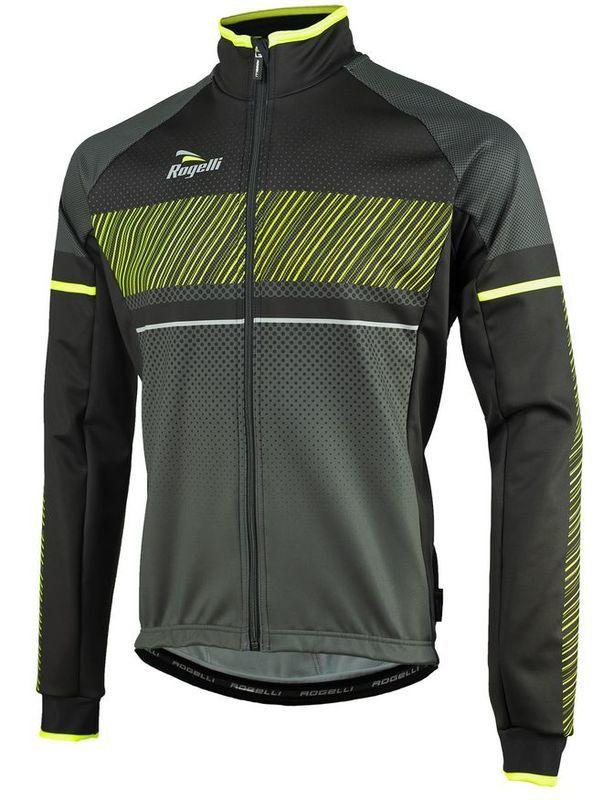 Pánska softshellová bunda Rogelli Ritmo, 003.255. čierno-reflexná žltá