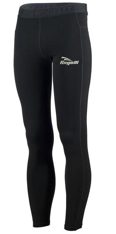 Pánske bežecké nohavice Rogelli Power, 800.007. čierne