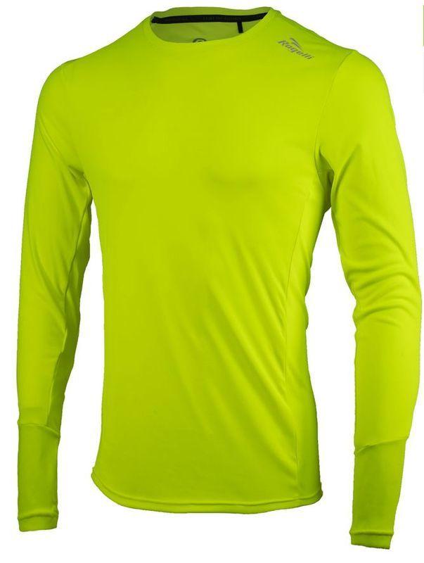 Športové funkčnou triko Rogelli BASIC s dlhým rukávom, 800.260. reflexná žltá S