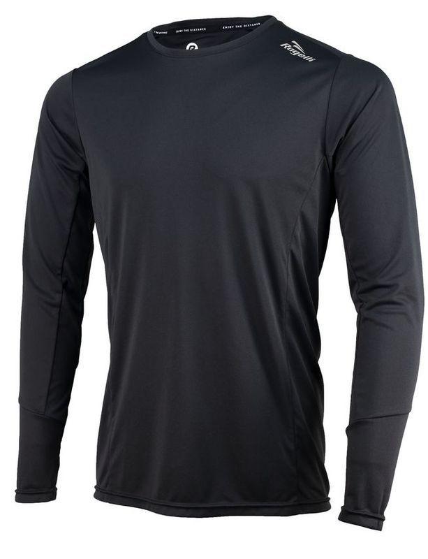 Športové funkčnou triko Rogelli BASIC s dlhým rukávom, 800.261. čierne S