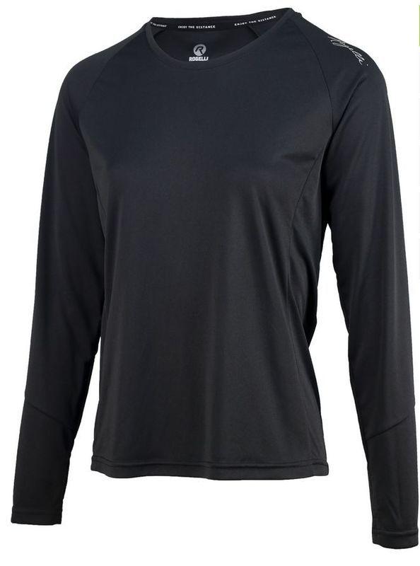 Dámske športové funkčnou triko Rogelli BASIC s dlhým rukávom, 801.254. čierne S