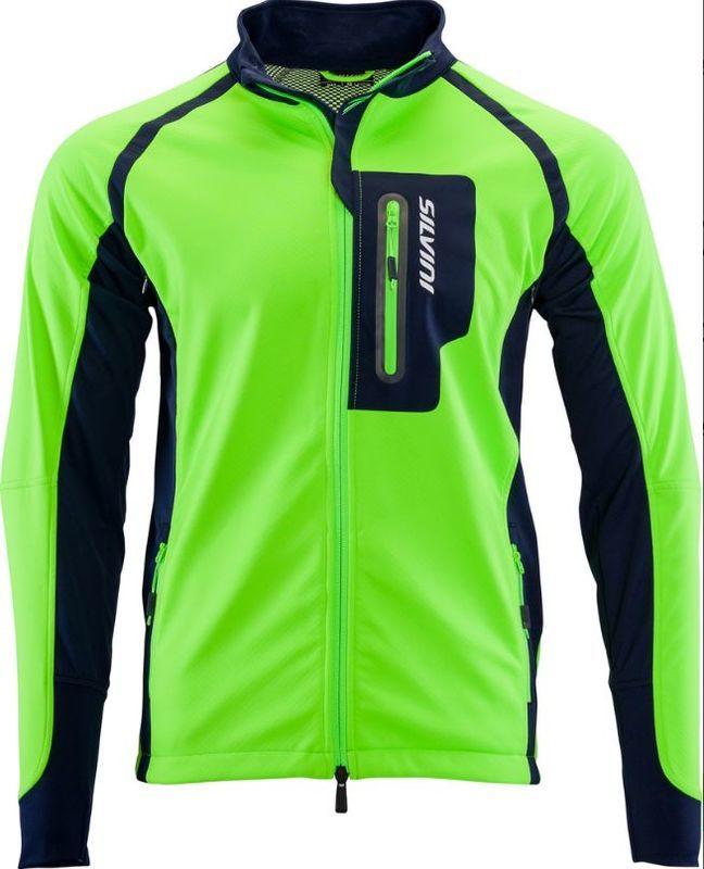 Pánska softshellová bunda Silvini Anteo MJ1301 green 4XL