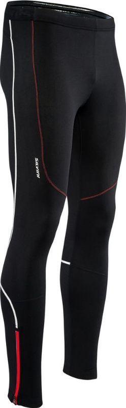 Pánske elastické zateplené nohavice Silvini RUBENZA MP1313 black red M