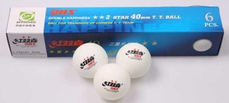 Loptičky na stolný tenis DHS Forty 2* 6ks