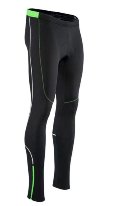 Pánske elastické zateplené nohavice Silvini RUBENZA MP1319 black green XL