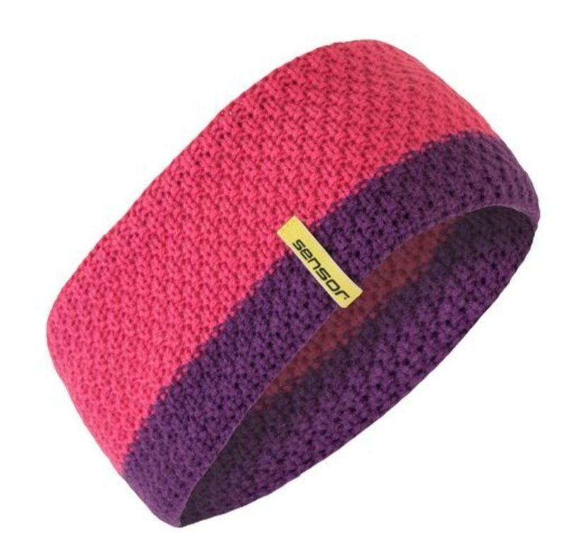 Pletená čelenka Sensor ružová