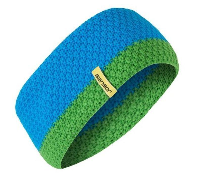 Pletená čelenka Sensor modrá