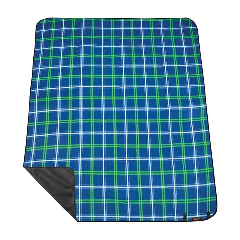 Pikniková deka s popruhom Spokey PICNIC tartan, modrá