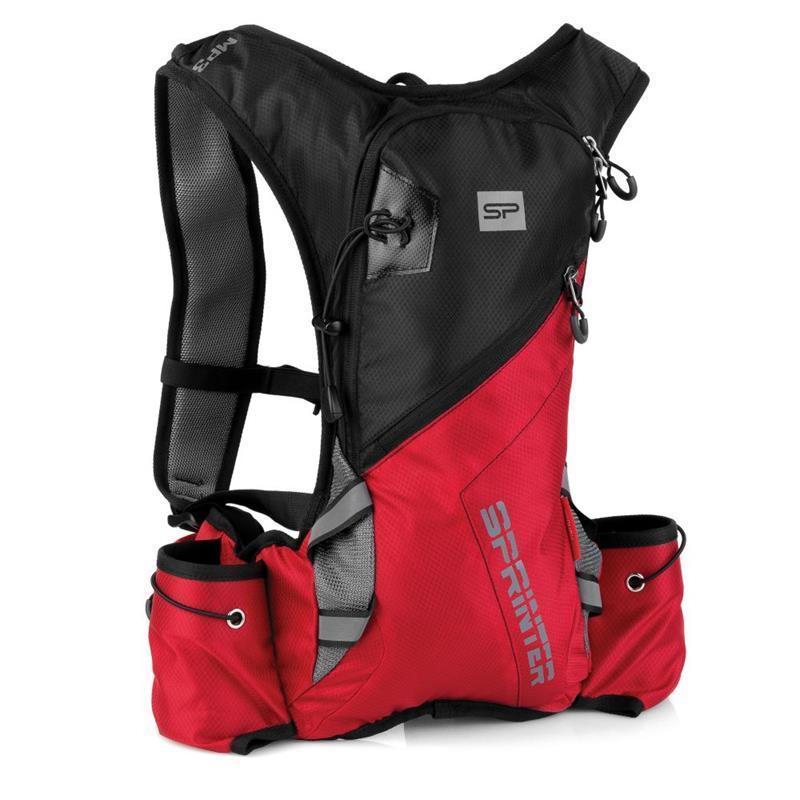 Cyklistický a bežecký batoh Spokey SPRINTER 5l čierno / červený, vodeodolný