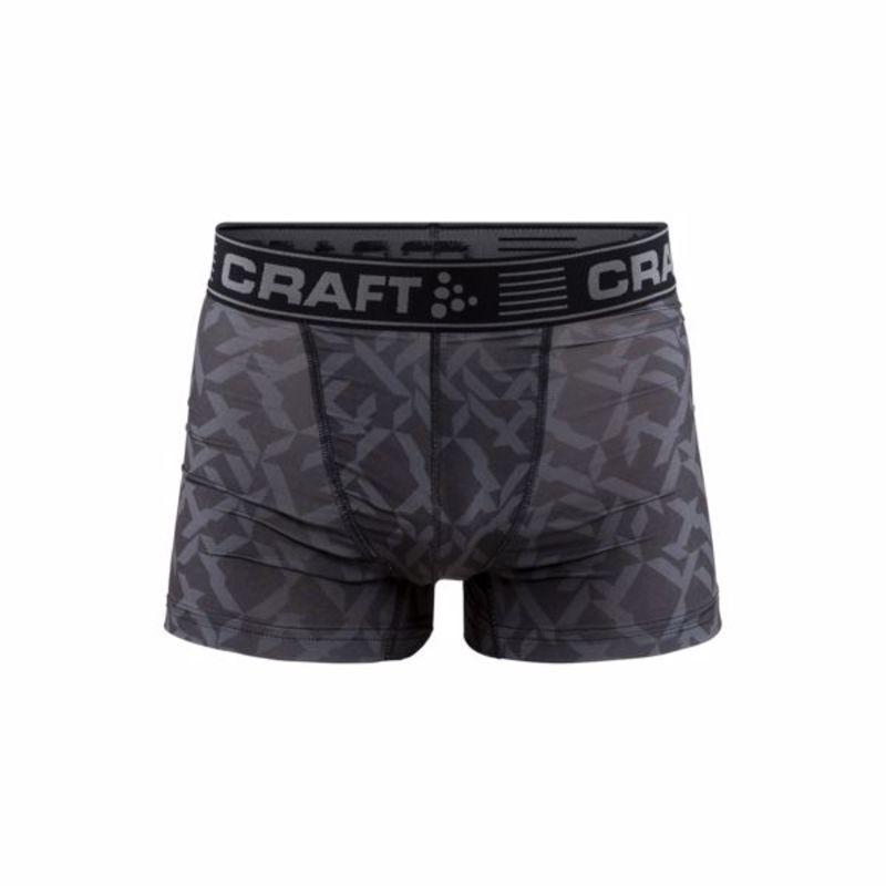 """Boxerky CRAFT Greatness 3"""" 1905488-2999 - čierna s potlačou M"""