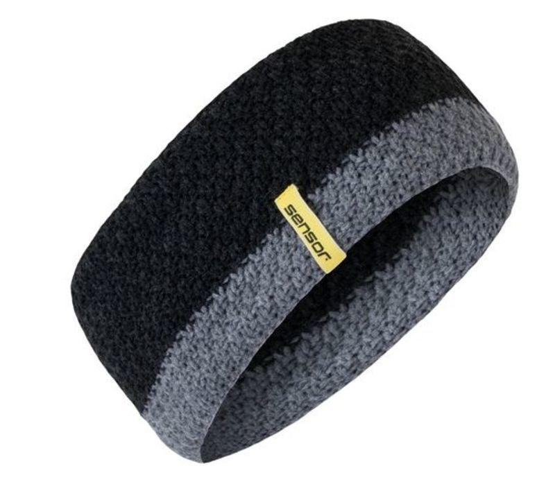 Pletená čelenka Sensor čierna