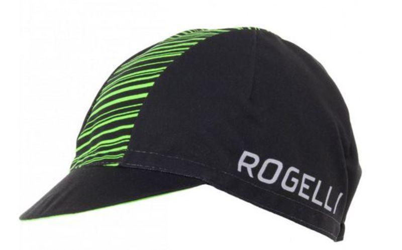 Športové šiltovka Rogelli RITMO, čierno-zelená 009.950