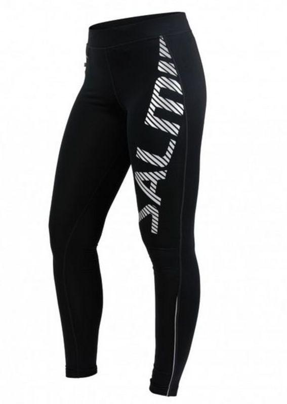 Legíny Salming Logo Tights 2.0 Women Black / Silver Reflective L