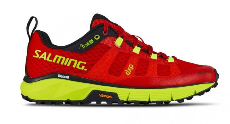 Topánky Salming Trail 5 Women Poppy Red / Safety Yellow 6 UK