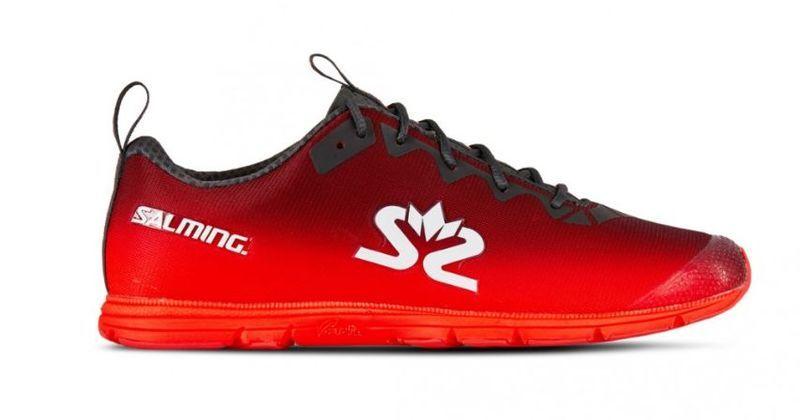 Topánky Salming Race 7 Women Kovaný iron / poppy Red 3,5 UK